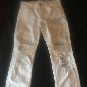 J brand white distressed jeans sz 27